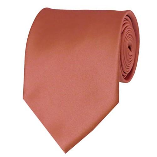 Palm Coast Coral Neckties Solid Color Ties
