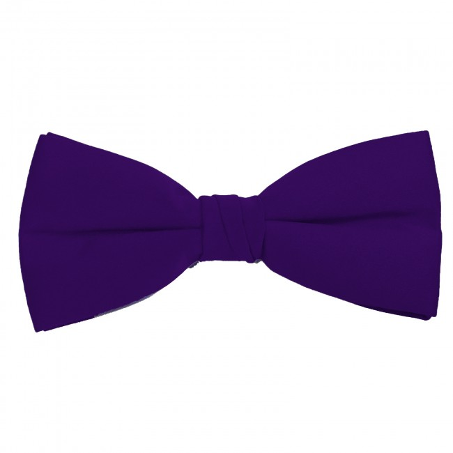 New Men/'s 100/% Polyester Solid Formal Self-tied Bow Tie Only Dark Purple