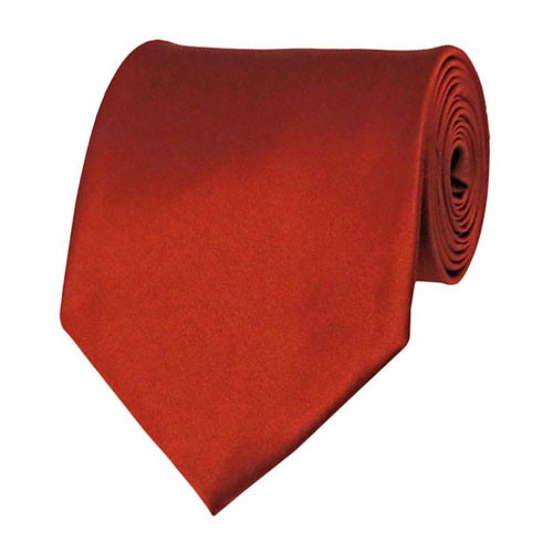 Rust Solid Color Ties Mens Neckties
