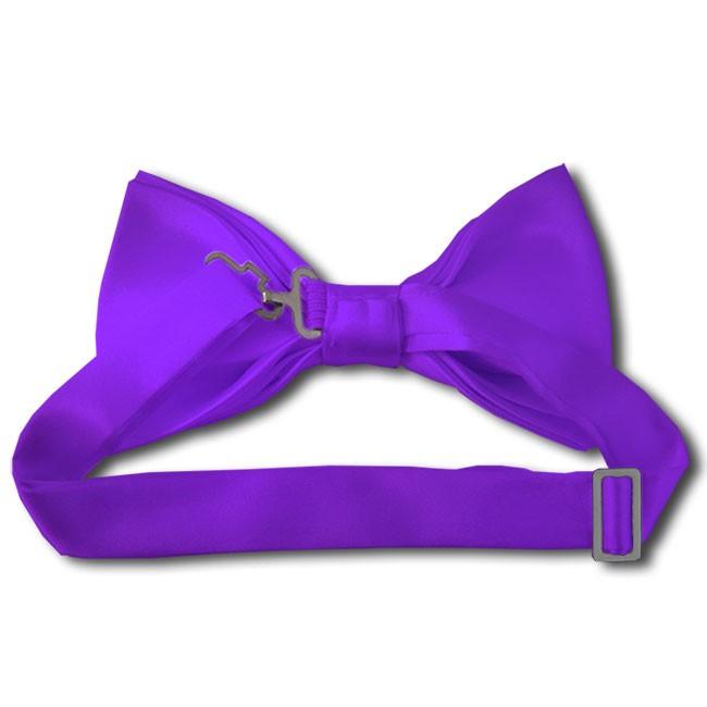 solid plum violet bow tie satin pre wholesale
