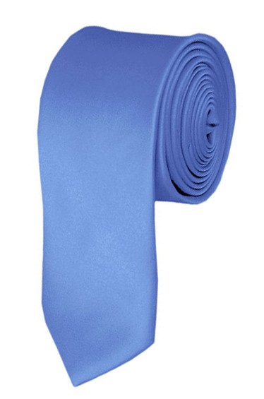 3f6387de8d1c Skinny steel blue ties - Satin - Mens Neckties - Wholesale prices no ...