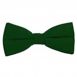 Hunter Green Bow Tie Solid Pre-tied Satin Mens Ties