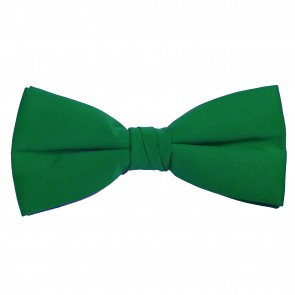 Kelly Green Bow Tie Solid Pre-tied Satin Mens Ties