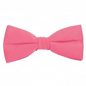 Hot Pink Bow Tie Solid Pre-tied Satin Mens Ties