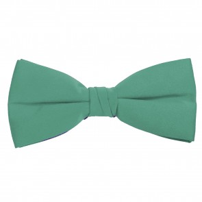 Aqua Green Bow Tie Solid Pre-tied Satin Mens Ties