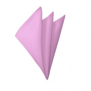 Solid Pink Hanky Mens Handkerchief Pocket Square