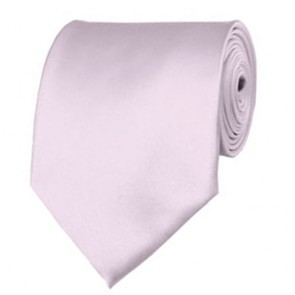 Light Pink Solid Color Ties Mens Neckties
