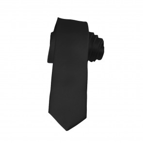 Solid Black Skinny Ties Solid Color 2 Inch Mens Neckties
