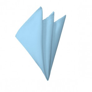 Solid Powder Blue Hanky Mens Handkerchief Pocket Square