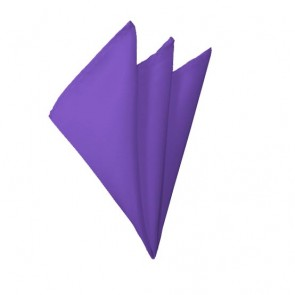 Solid Purple Hanky Mens Handkerchief Pocket Square