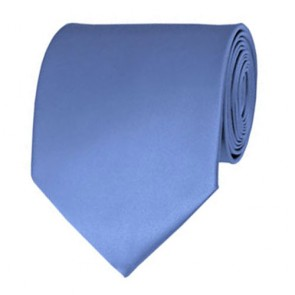 Steel Blue Solid Color Ties Mens Neckties