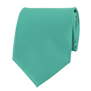 Mint Green Solid Color Ties Mens Neckties