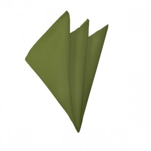 Solid Olive Hanky Mens Handkerchief Pocket Square