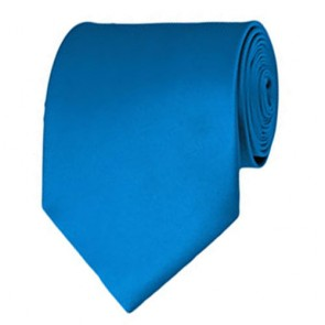 Peacock Blue Solid Color Ties Mens Neckties