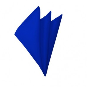 Solid Royal Blue Hanky Mens Handkerchief Pocket Square