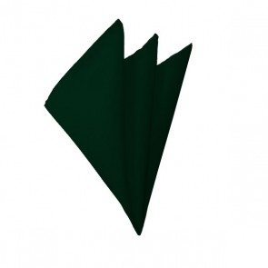 Solid Hunter Green Hanky Mens Handkerchief Pocket Square