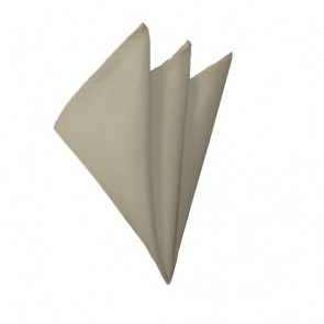 Solid Beige Hanky Mens Handkerchief Pocket Square