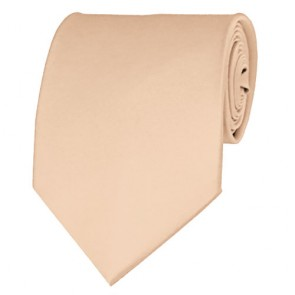 Peach Solid Color Ties Mens Neckties