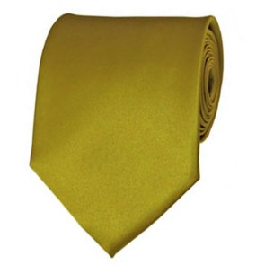 Mustard Solid Color Ties Mens Neckties