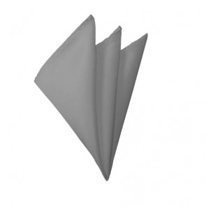 Solid Silver Hanky Mens Handkerchief Pocket Square