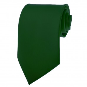 Hunter Green Ties Mens Solid Color Neckties