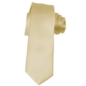 Solid Champagne Skinny Ties Solid Color 2 Inch Mens Neckties