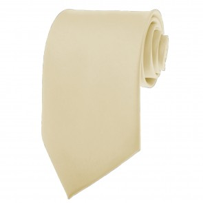 Ivory Cream Ties Mens Solid Color Neckties