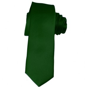Solid Hunter Green Skinny Ties Solid Color 2 Inch Mens Neckties