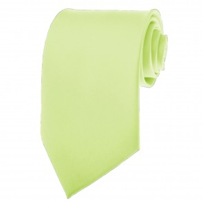 Pear Green Ties Mens Solid Color Neckties