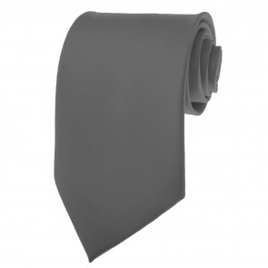 Charcoal Ties Mens Solid Color Neckties