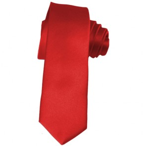 Solid Red Skinny Ties Solid Color 2 Inch Mens Neckties