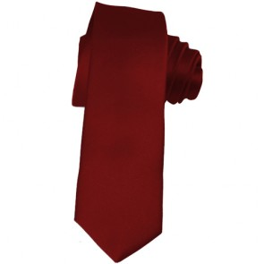 Solid Burgundy Skinny Ties Solid Color 2 Inch Mens Neckties