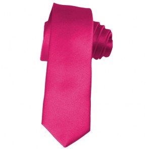 Solid Fuchsia Skinny Ties Solid Color 2 Inch Mens Neckties