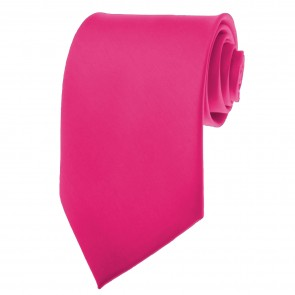 Fuchsia Ties Mens Solid Color Neckties