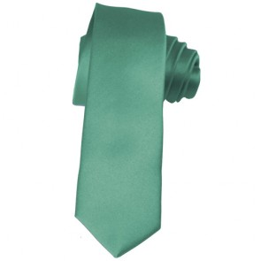 Solid Aqua Green Skinny Ties Solid Color 2 Inch Mens Neckties