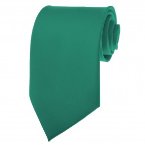 Teal Green Ties Mens Solid Color Neckties