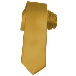 Solid Honey Gold Skinny Ties Solid Color 2 Inch Mens Neckties