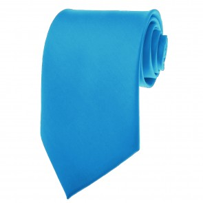 Peacock Blue Ties Mens Solid Color Neckties