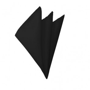Solid Black Hanky Mens Handkerchief Pocket Square