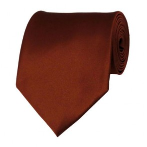 Cinnamon Solid Color Ties Mens Neckties