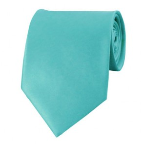 Aqua Green Solid Color Ties Mens Neckties