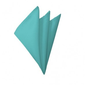 Solid Aqua Green Hanky Mens Handkerchief Pocket Square