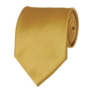 Honey Gold Solid Color Ties Mens Neckties