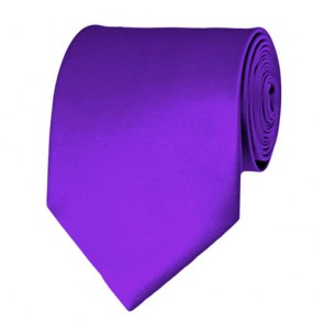 Plum Violet Solid Color Ties Mens Neckties