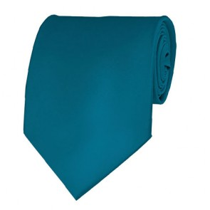 Oasis Blue Solid Color Ties Mens Neckties