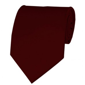 Maroon Solid Color Ties Mens Neckties