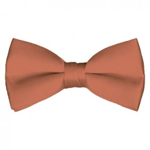 Solid Palm Coast Coral Bow Tie Pre-tied Satin Mens Ties
