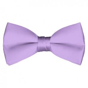 Solid Lavender Bow Tie Pre-tied Satin Mens Ties