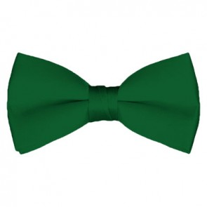 Solid Kelly Green Bow Tie Pre-tied Satin Mens Ties