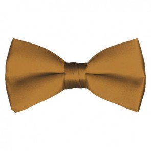 Solid Copper Bow Tie Pre-tied Satin Mens Ties